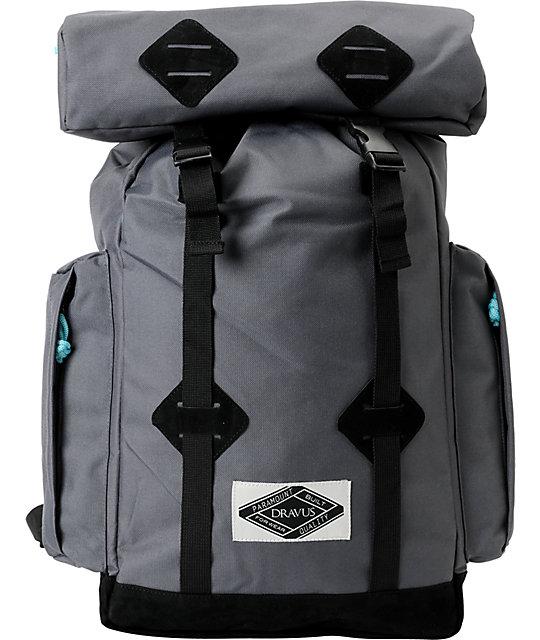 Dravus Take A Hike Grey & Black Backpack