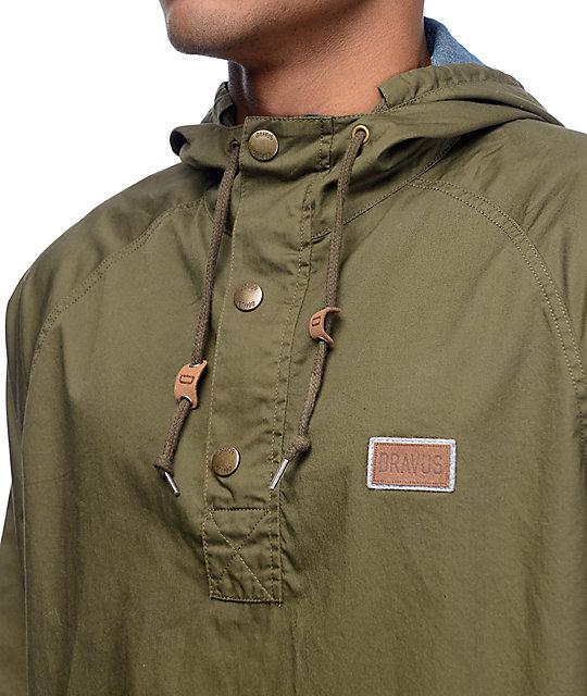 Dravus Timber Olive Pullover Anorak Jacket | Zumiez