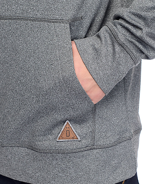 Dravus Totem Grey Crossneck Pullover Tech Fleece