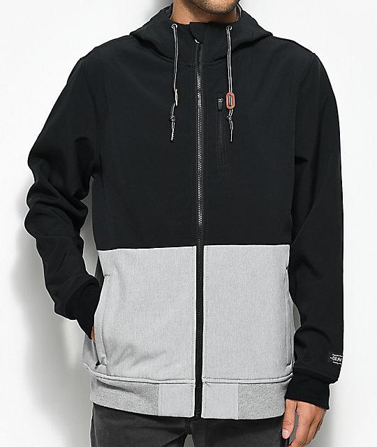 Dravus Trevor Black & Grey Tech Fleece Jacket