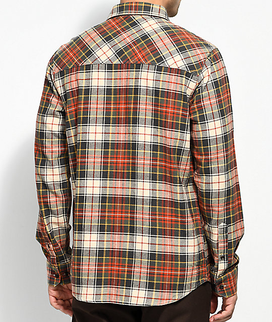 Dravus Willis Red, White & Gold Flannel Shirt