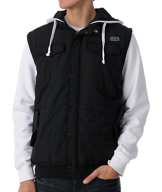 Dravus Winchester Black & White Vest Hoodie