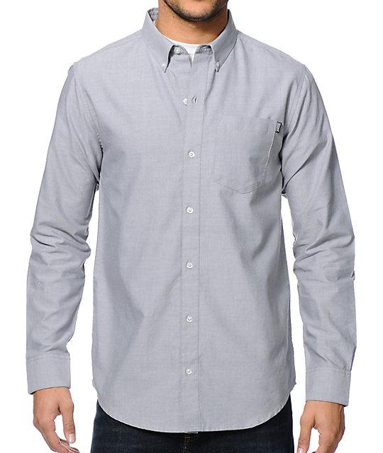 Zander Grey Long Sleeve Button Up Shirt