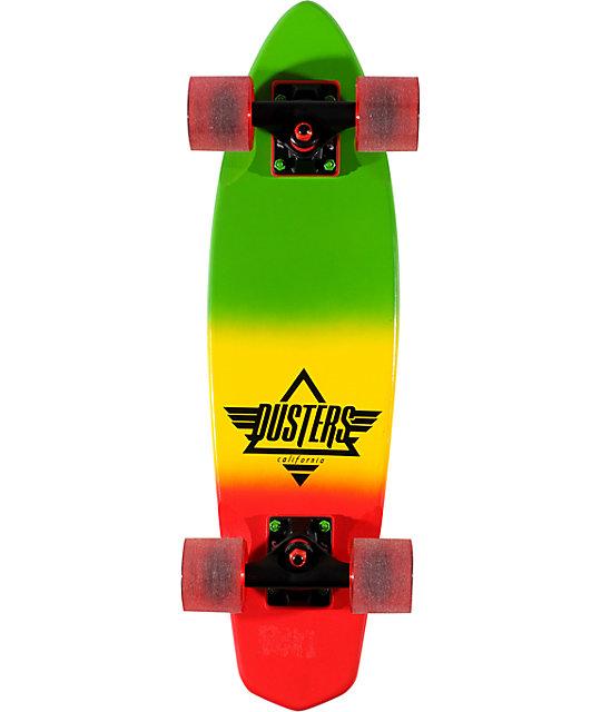 "Dusters Ace Rasta 23.5""  Complete Cruiser Skateboard"