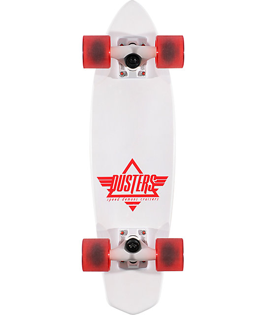 """Dusters Ace White 23.5""""  Complete Cruiser Board"""