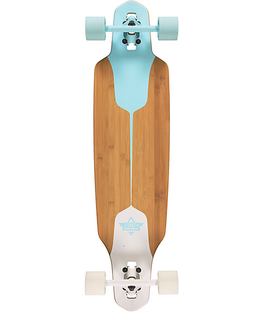"Dusters Channel Blue & White Drop Through 38""  Longboard Complete"