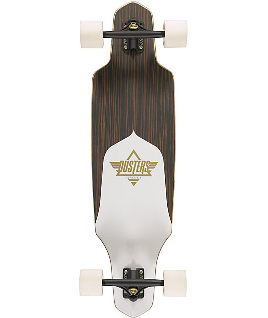 "Dusters Channel Ebony 34""  Top Mount Longboard Complete"