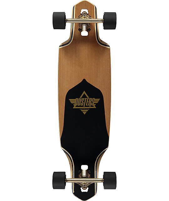 "Dusters Channel Gold 34""  Drop Through Longboard Complete"