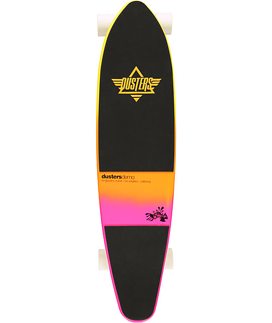 "Dusters Demo Sunset Fade 37.5""  Complete Longboard"