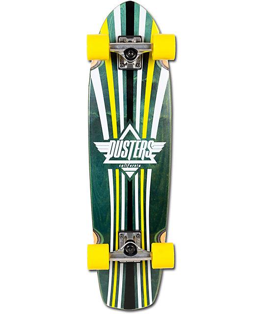 "Dusters Keen 31""  Green & Yellow Complete Cruiser Skateboard"