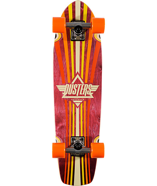 "Dusters Keen 31""  Orange Complete Cruiser Skateboard"