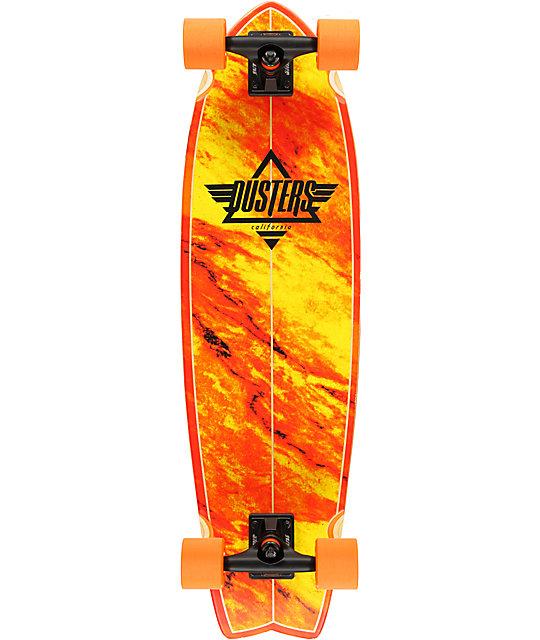 "Dusters Kosher Orange 33""  Complete Cruiser Skateboard"