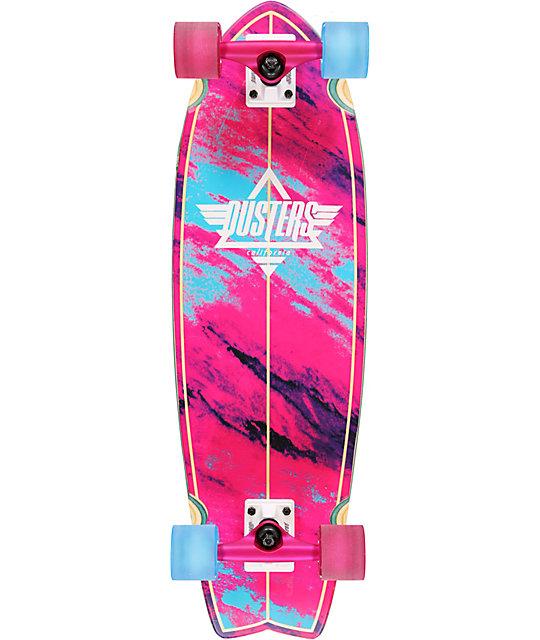 "Dusters Kosher Pink & Blue 33""  Complete Cruiser Skateboard"