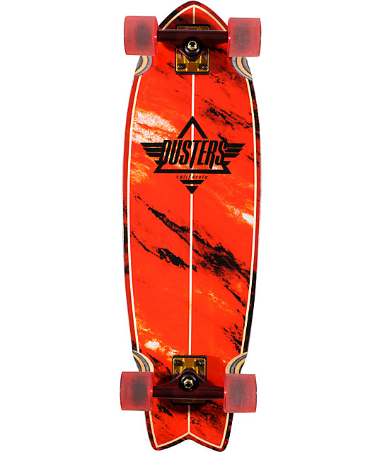 "Dusters Kosher Red 32.5""  Complete Cruiser Skateboard"