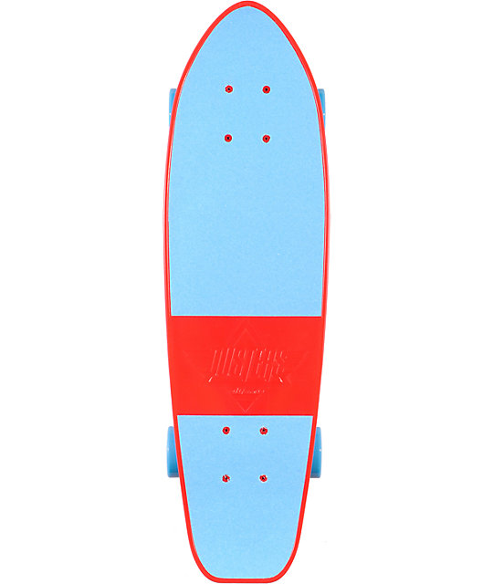 "Dusters Mighty 25""  Blue & Red Plastic Cruiser Skateboard"