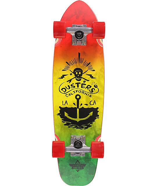 "Dusters Perimeter Rasta 37""  Cruiser Complete Skateboard"
