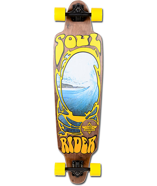 """Dusters Soul Rider Brown & Yellow 38""""  Longboard Complete"""