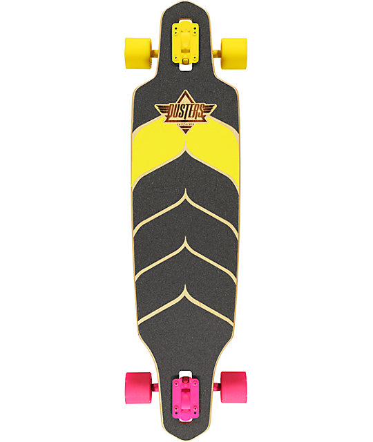 "Dusters Wake 38.0""  Neon Drop Through Cruiser Complete Skateboard"