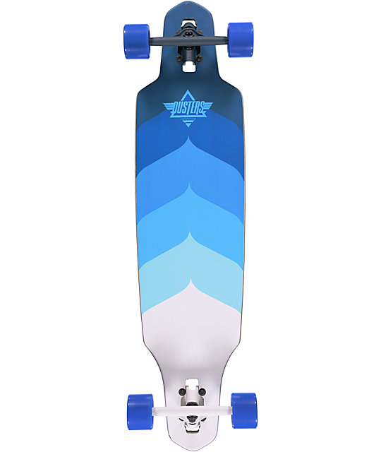"Dusters Wake Blue 34""  Drop Through Longboard Complete"