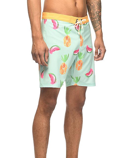 Duvin Luau Seafoam Board Shorts