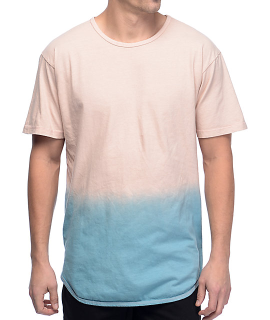 EPTM 2 Tone Dip Dye Dusty Pink & Blue T-Shirt
