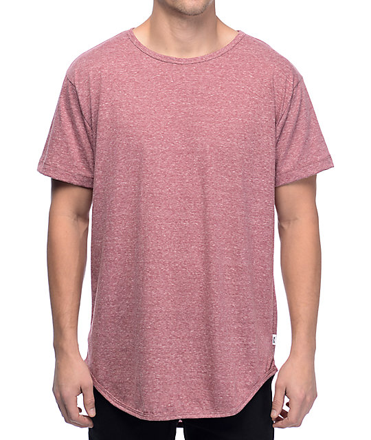 EPTM OG Heather Burgundy Elongated T-Shirt
