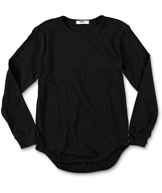 EPTM. Boys OG Black Elongated Longsleeve T-Shirt