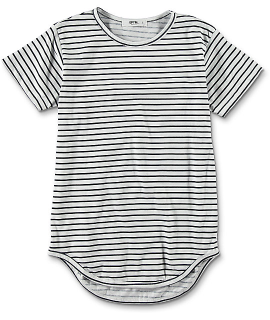 EPTM. Boys OG Navy Striped Elongated T-Shirt
