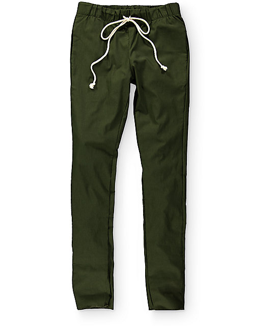 EPTM. Break Beats Olive Green Chino Pants