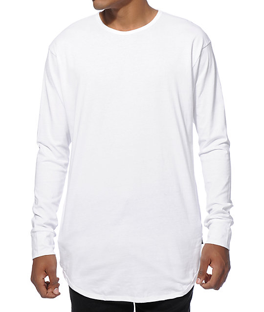 EPTM. Elongated Basic Drop Tail Long Sleeve T-Shirt at Zumiez : PDP