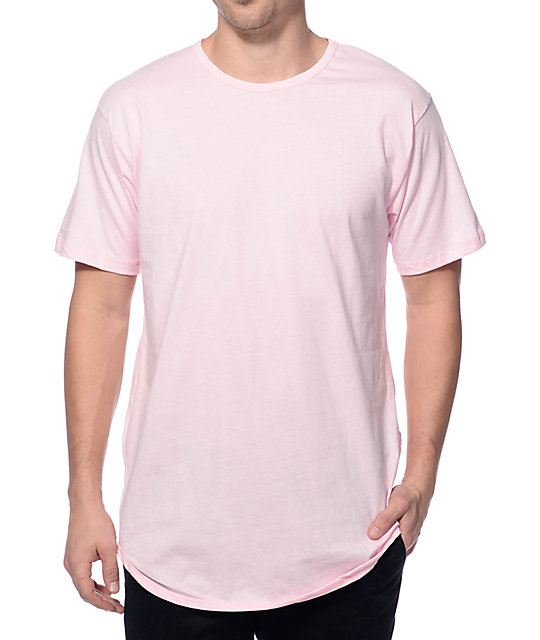 Eptm elongated light pink long t shirt zumiez for Pastel colored men s t shirts
