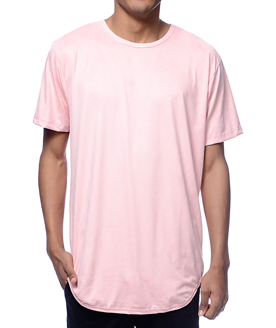 Suede Pink Long T-Shirt