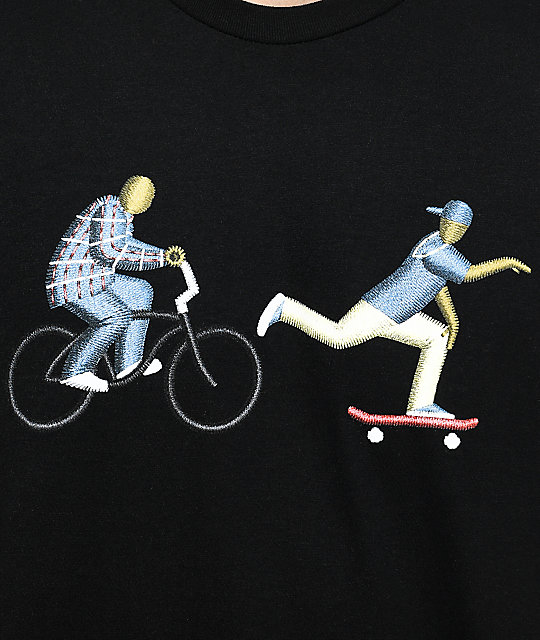 EVERYBODYSKATES Chase Graphic Black T-Shirt