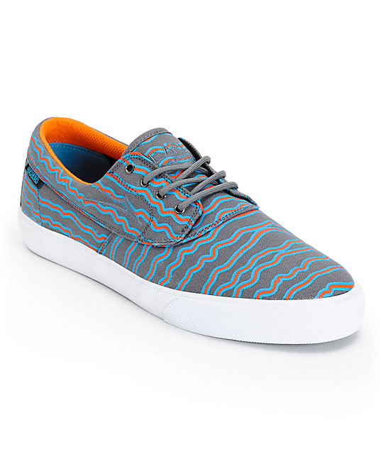 Earl Sweatshirt x Lakai Camby Grey Print Canvas Skate Shoes