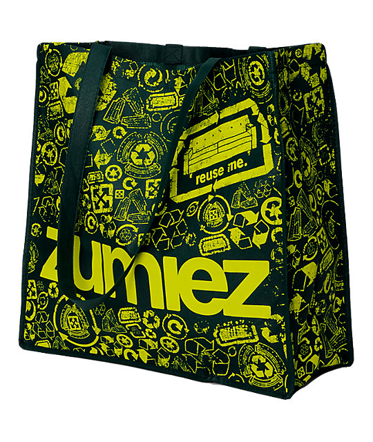EarthPack Zumiez Re-Usable Shopping Green Tote
