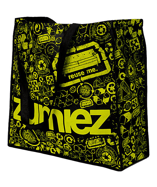 Earthpack Zumiez Re-Usable Shopping Black Tote