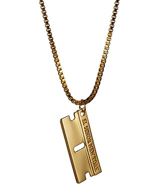 El Senor Razor Blade Pendant Necklace