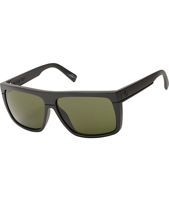 Electric Black Top Matte Black Sunglasses