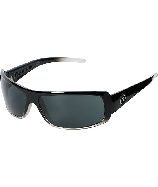 Electric Charge Black Clear Fade Sunglasses