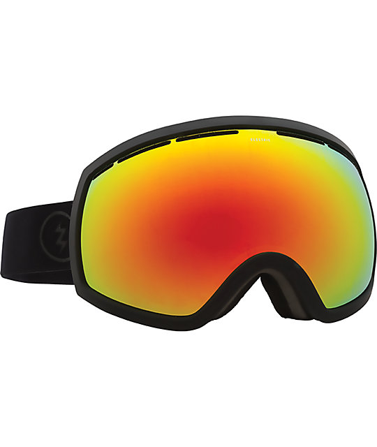 snowboard goggles  Electric EG2 Matte Black Brose Red Chrome Snowboard Goggles at ...