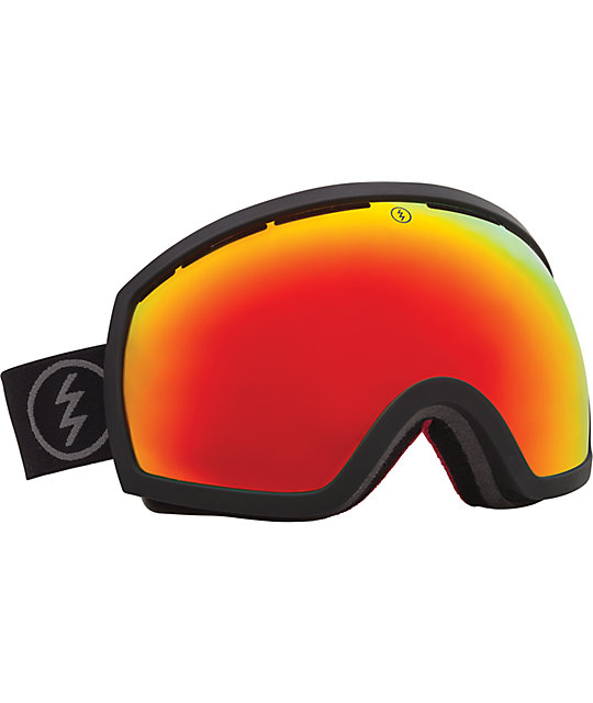Electric EG2 Solar Black & Red Chrome Snowboard Goggles