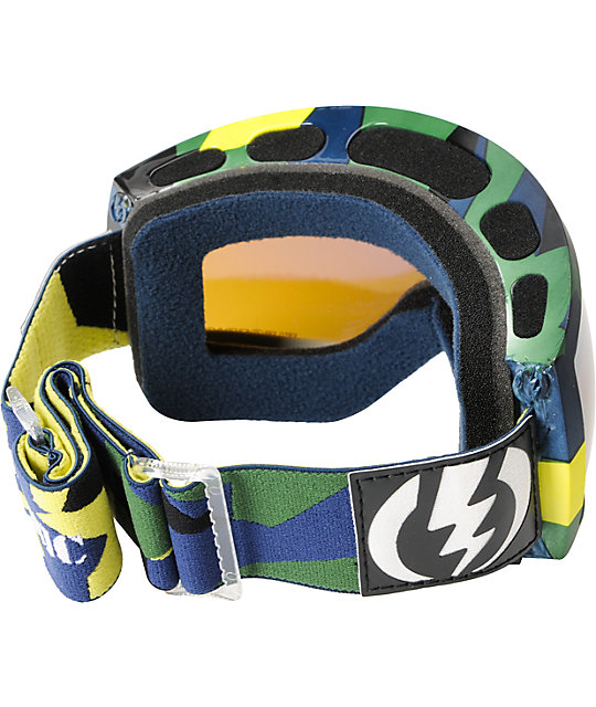 Electric EG2.5 Disoragnize Blue, Yellow & Green Snowboard Goggles