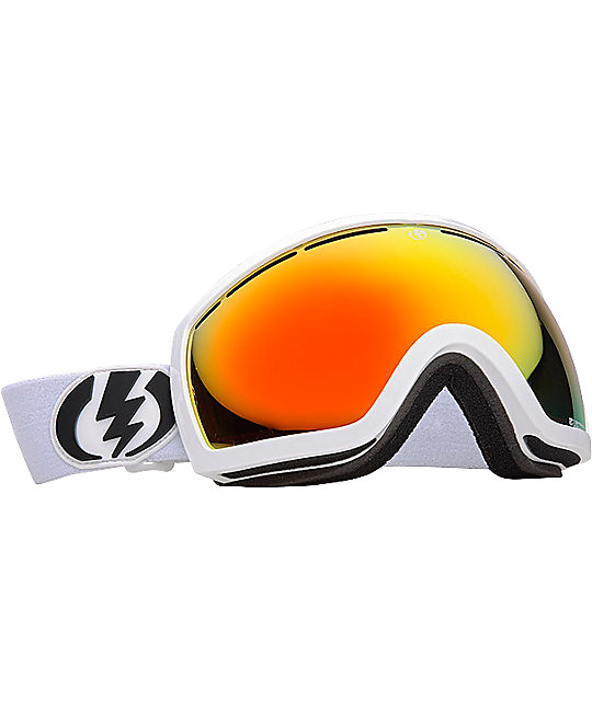 Electric EG2.5 Gloss White Bronze & Red Chrome Snowboard Goggles