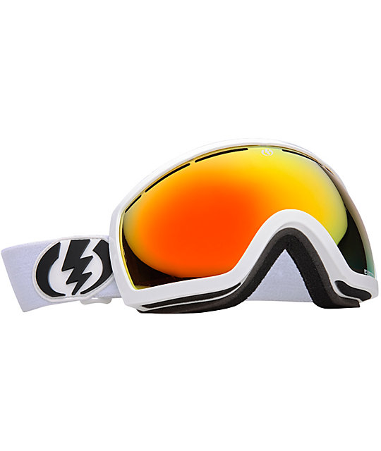 Electric EG2.5 Gloss White Bronze & Red Snowboard Goggles