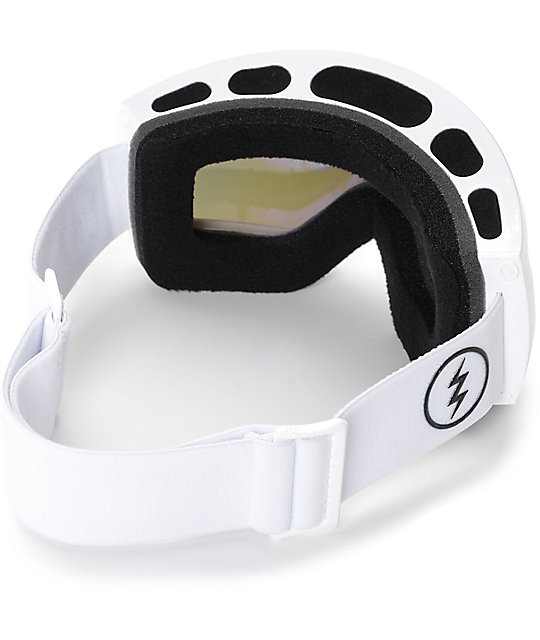 Electric EG2.5 Gloss White Brose Red Chrome Snowboard Goggles