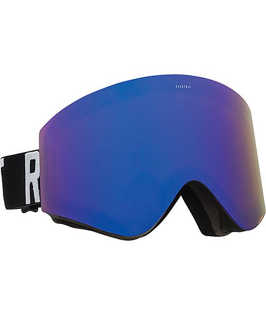 Electric EGX Matte Black Wordmark Brose & Chrome Snow Goggles