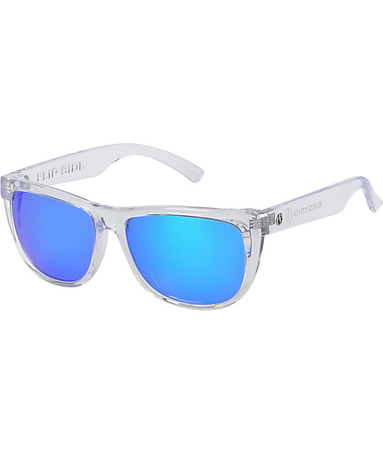 Electric Flipside Crystal & Blue Chrome Sunglasses