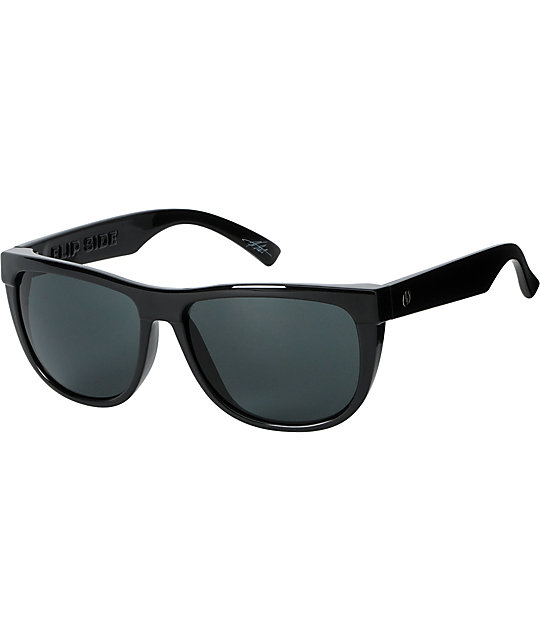 Electric Flipside Gloss Black Sunglasses