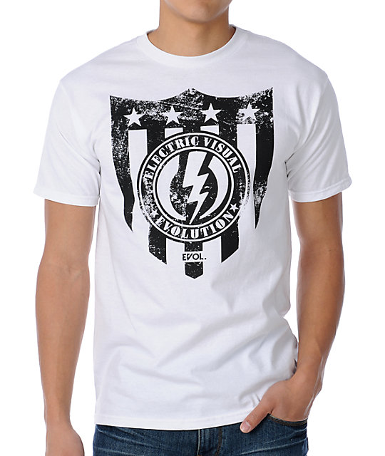 Electric Freedom White T-Shirt