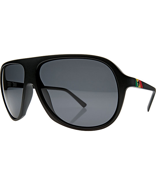 Electric Hoodlum Matte Black & Grey Sunglasses